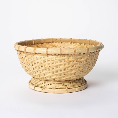 "5"" x 10"" Round Bamboo Woven Bowl Natural - Threshold™ designed with Studio McGee"
