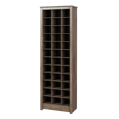 Space Saving Shoe Storage Cabinet Drifted Gray - Prepac