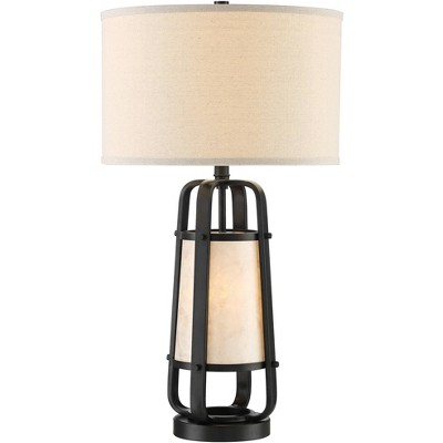 Franklin Iron Works Stacey Natural Mica Shade Night Light Table Lamp