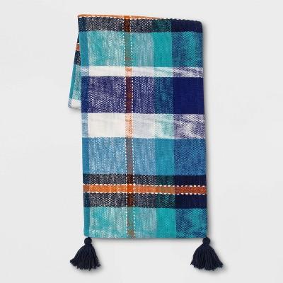 Plaid Woven Cotton Slub Throw Blanket - Opalhouse™
