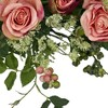 """Nearly Natural 20"""" Rose Wreath - image 3 of 3"""