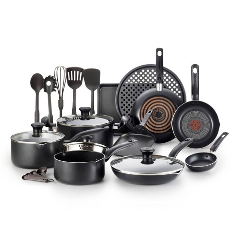 T-Fal 20pc Cookware Set Black - image 1 of 4