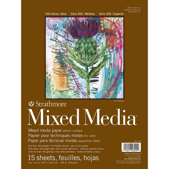 Strathmore 400 Series Mixed Media Pad, 9 x 12 Inches, 184 lb, 15 Sheets - image 1 of 1