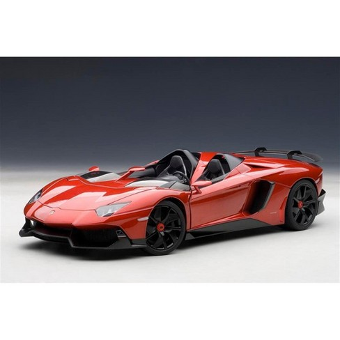 Lamborghini Aventador J Metallic Red 1 18 Diecast Car Model By