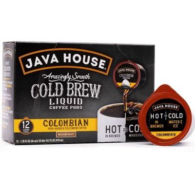Java House Cold Brew Colombian Black Medium Roast Single Serve - 12ct