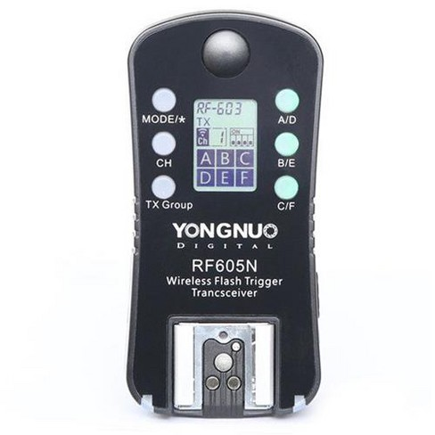 Yongnuo RF605 16-Channel Wireless Flash Trigger for Nikon Cameras, 2.4GHz Frequency, 1/320sec Sync Speed - image 1 of 2