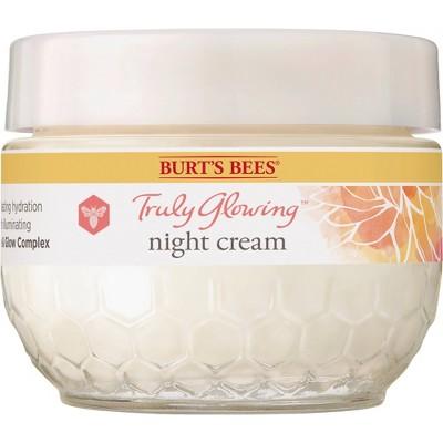Burt's Bees Truly Glowing Night Cream - 1.8oz