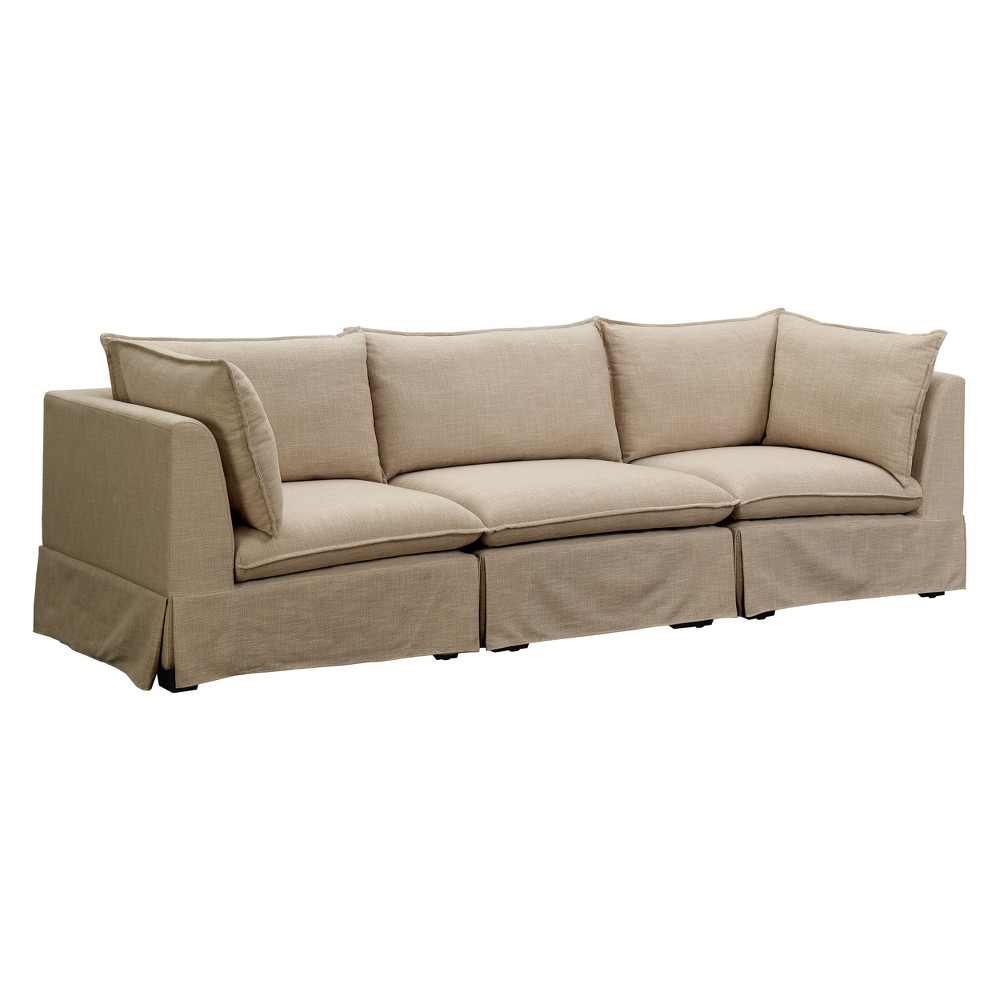 Iohomes Moris Transitional Linen Like Fabric Sofa Set Beige - Homes: Inside + Out