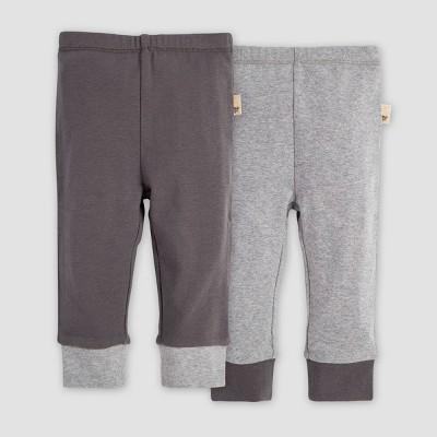 Burt's Bees Baby® Baby Organic Cotton Solid Cuff Lounge Pants - Heather Gray 6-9M