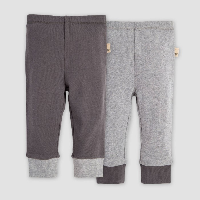 Burt's Bees Baby® Baby Organic Cotton Solid Cuff Lounge Pants - Heather Gray - image 1 of 4