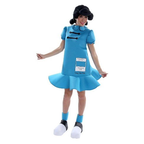 Peanuts: Women's Lucy Deluxe Costume - image 1 of 1