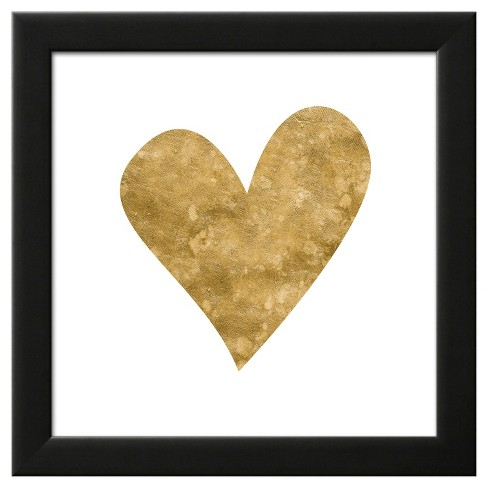 Romantic Icon III (gold foil) Framed Art Print - image 1 of 3