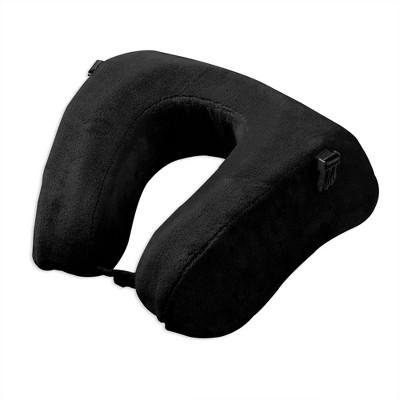 Brookstone Commuter Travel Neck Pillow - Black