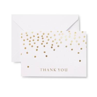 24ct Gold Dots Thank You Cards - Mara-Mi