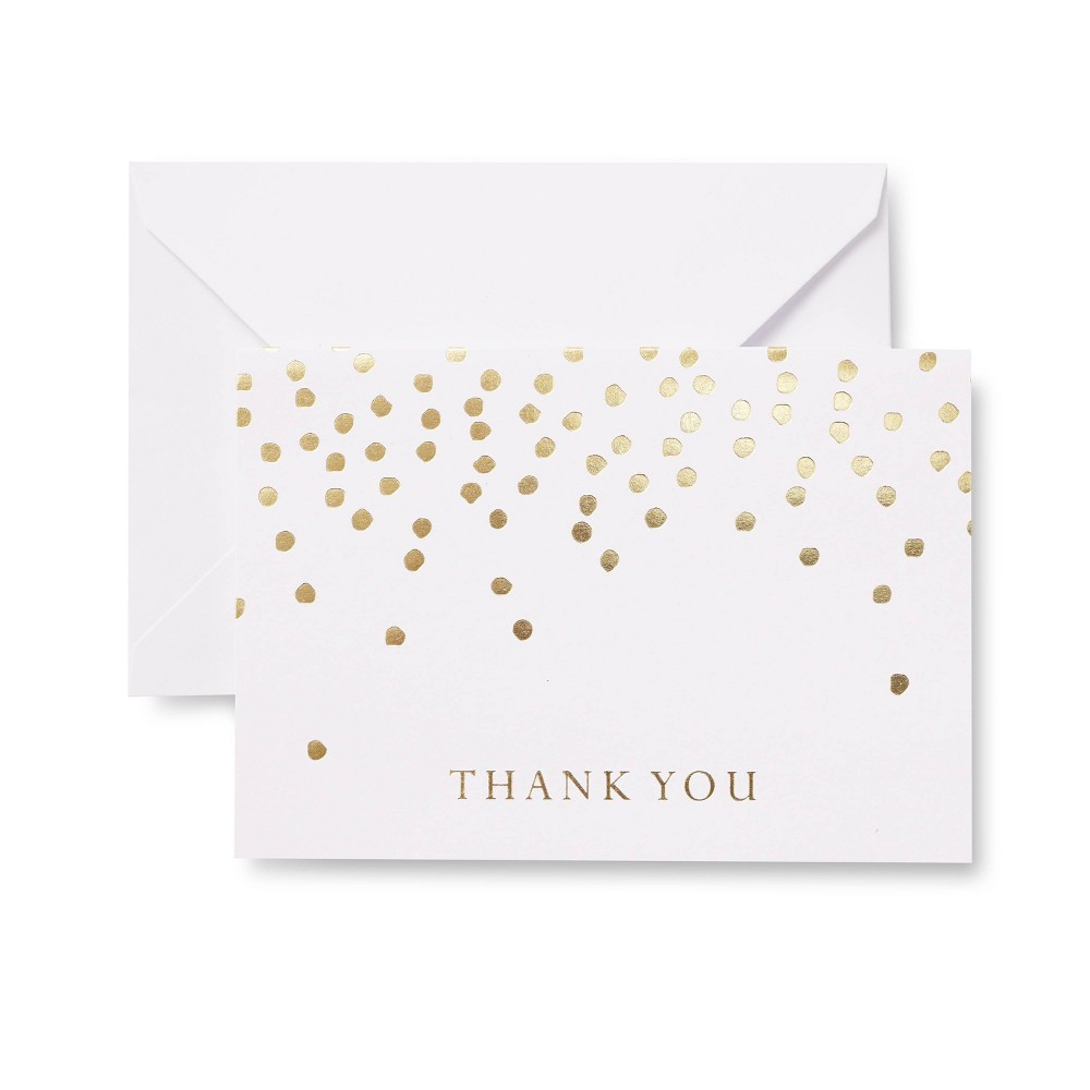 24ct Gold Dots Thank You Cards - Mara-Mi Top