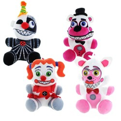 """Chucks Toys Five Nights at Freddy's Sister Location 10"""" Plush, Set of 4"""
