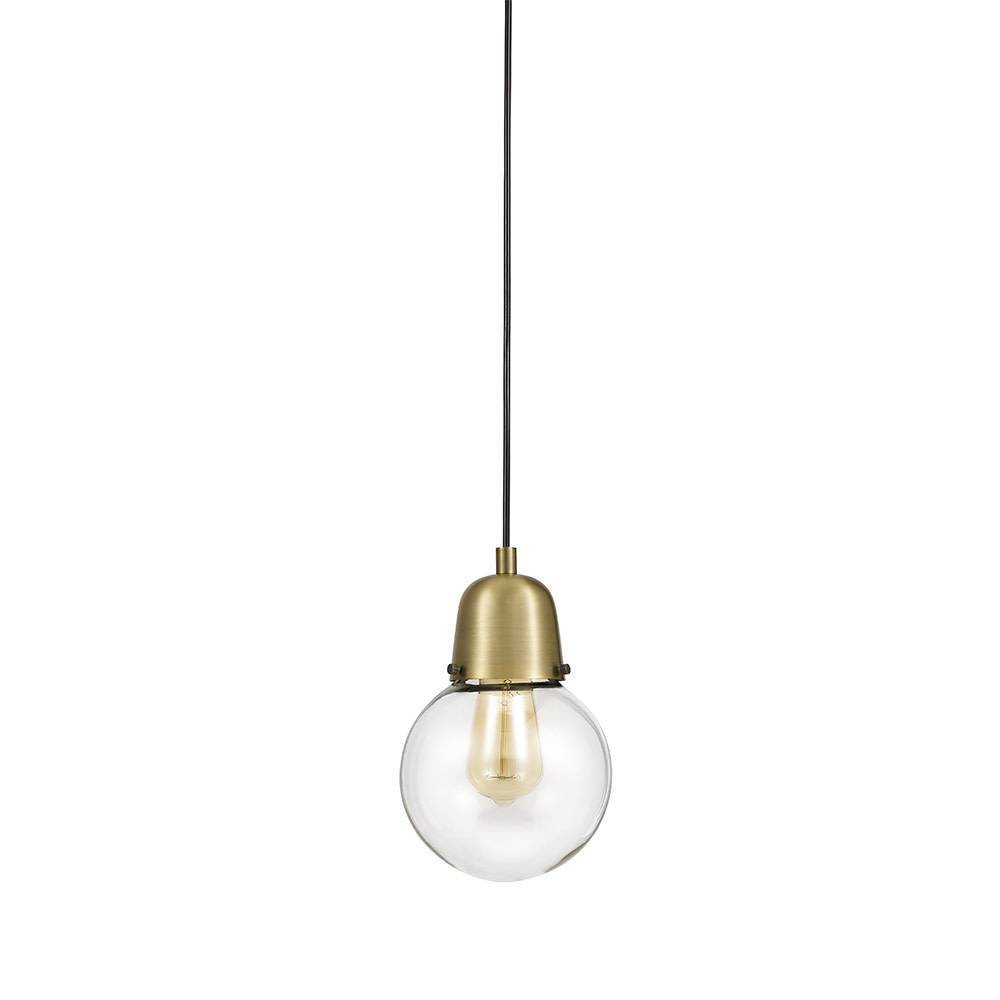 Image of One Light Swag Pendant Antique Brass - Cresswell Lighting, Gold