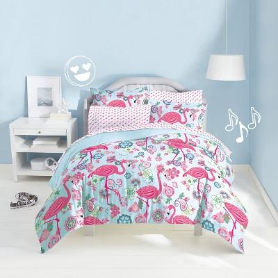 Twin Flamingo Mini Bed in a Bag - Dream Factory