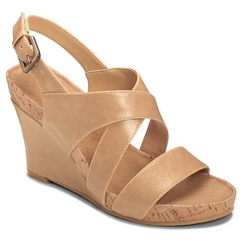 dbf6f654a8c6 Women s A2 By Aerosoles True Plush Cross Strap Sandals - Nude 11   Target