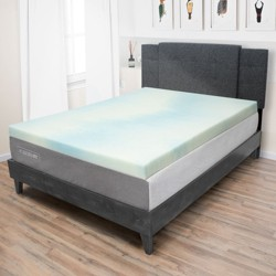 eLuxury 3.0'' Gel Memory Foam Mattress Topper, King
