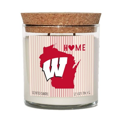 NCAA Wisconsin Badgers Home State Candle