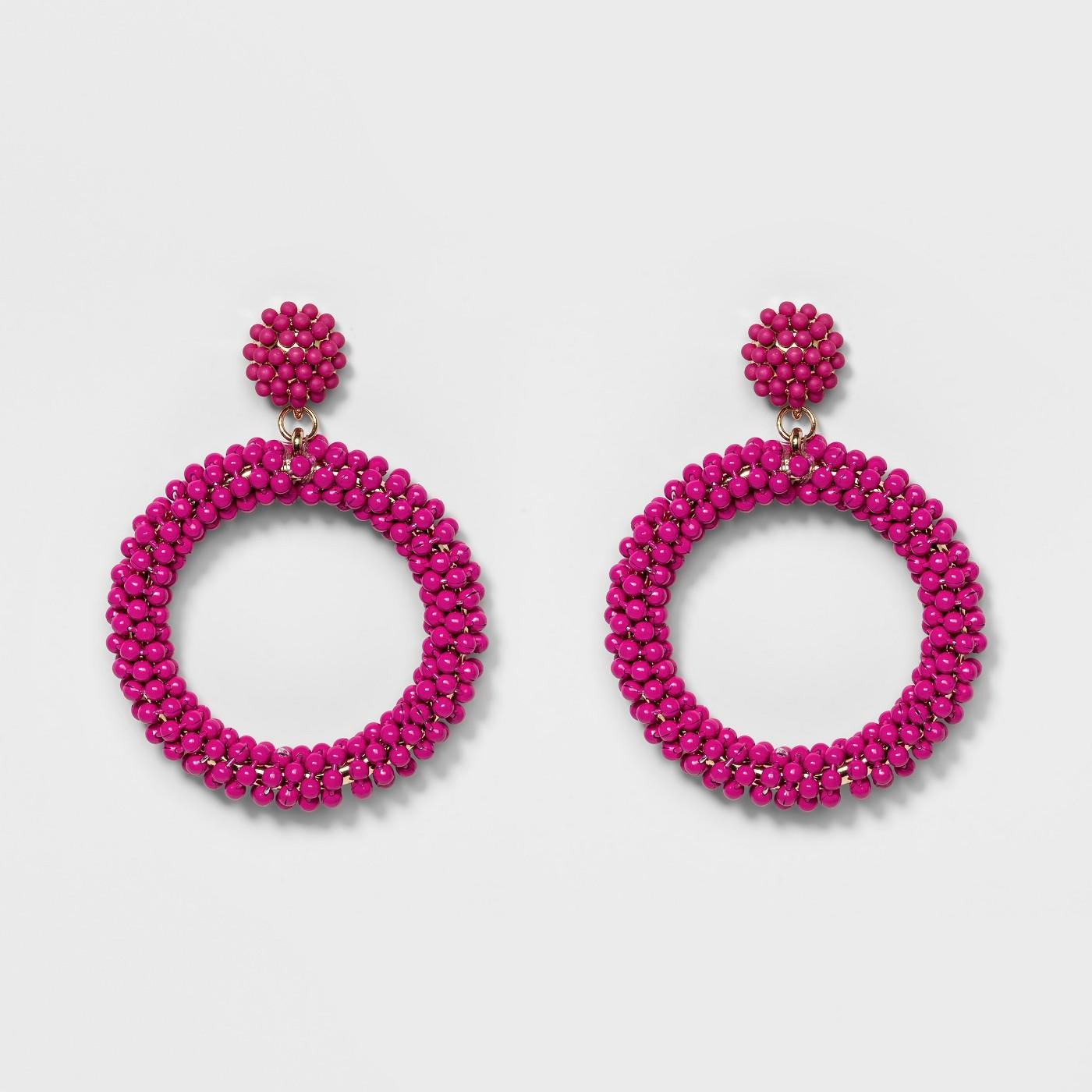 SUGARFIX by BaubleBar Beaded Hoop Earrings - image 1 of 2