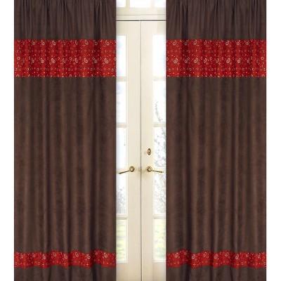 Sweet Jojo Designs Wild West Window Panels - Chocolate