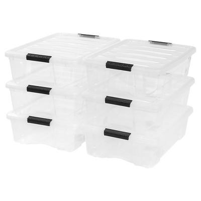 IRIS 26.9 Qt Plastic Storage Bin - 6 Pack