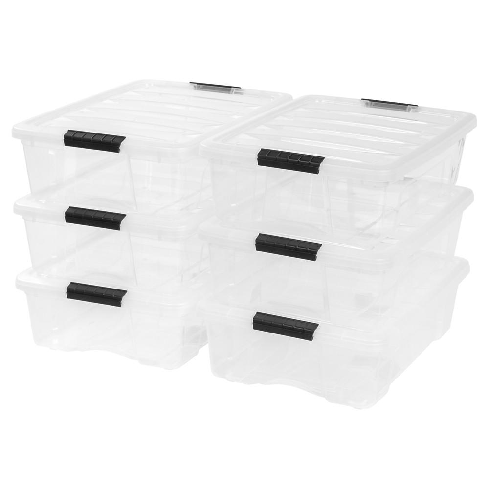 Image of IRIS 26.9 Qt Plastic Storage Bin - 6 Pack
