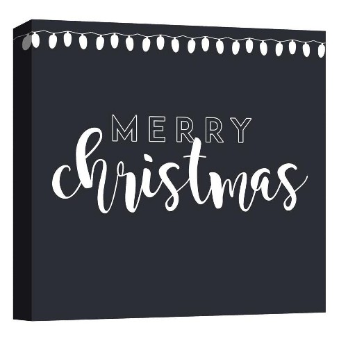 "Merry Christmas Decorative Canvas Wall Art 16""x16"" - PTM Images - image 1 of 1"