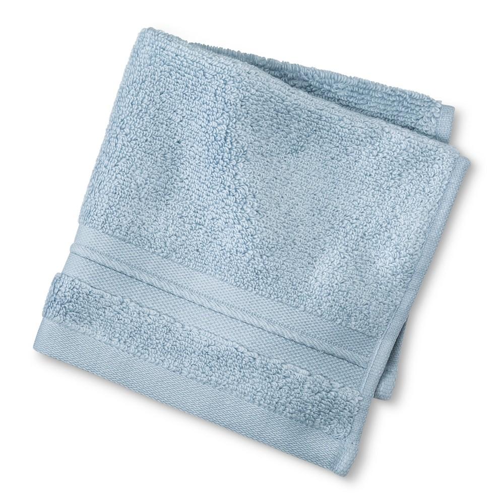 Microcotton Spa Solid Washcloth Sky Blue - Fieldcrest