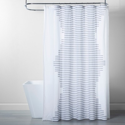 Fringe Stripe Shower Curtain Navy/White - Project 62™