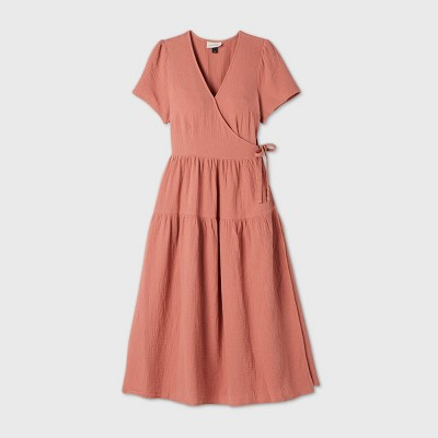Women's Short Sleeve Wrap Dress - Universal Thread™