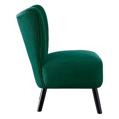 Homelegance Imani Mid Century Modern Velvet Accent Upholstered Living Room Bedroom Lounge Chair, Green : Target