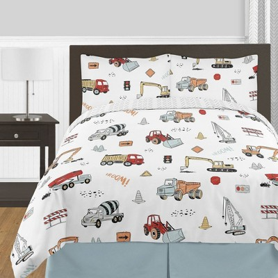 3pc Queen Construction Truck Bedding Set - Sweet Jojo Designs