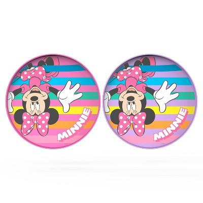 """Minnie Mouse 9"""" 2pk Plastic Flip-It-Plate Set - Zak Designs"""
