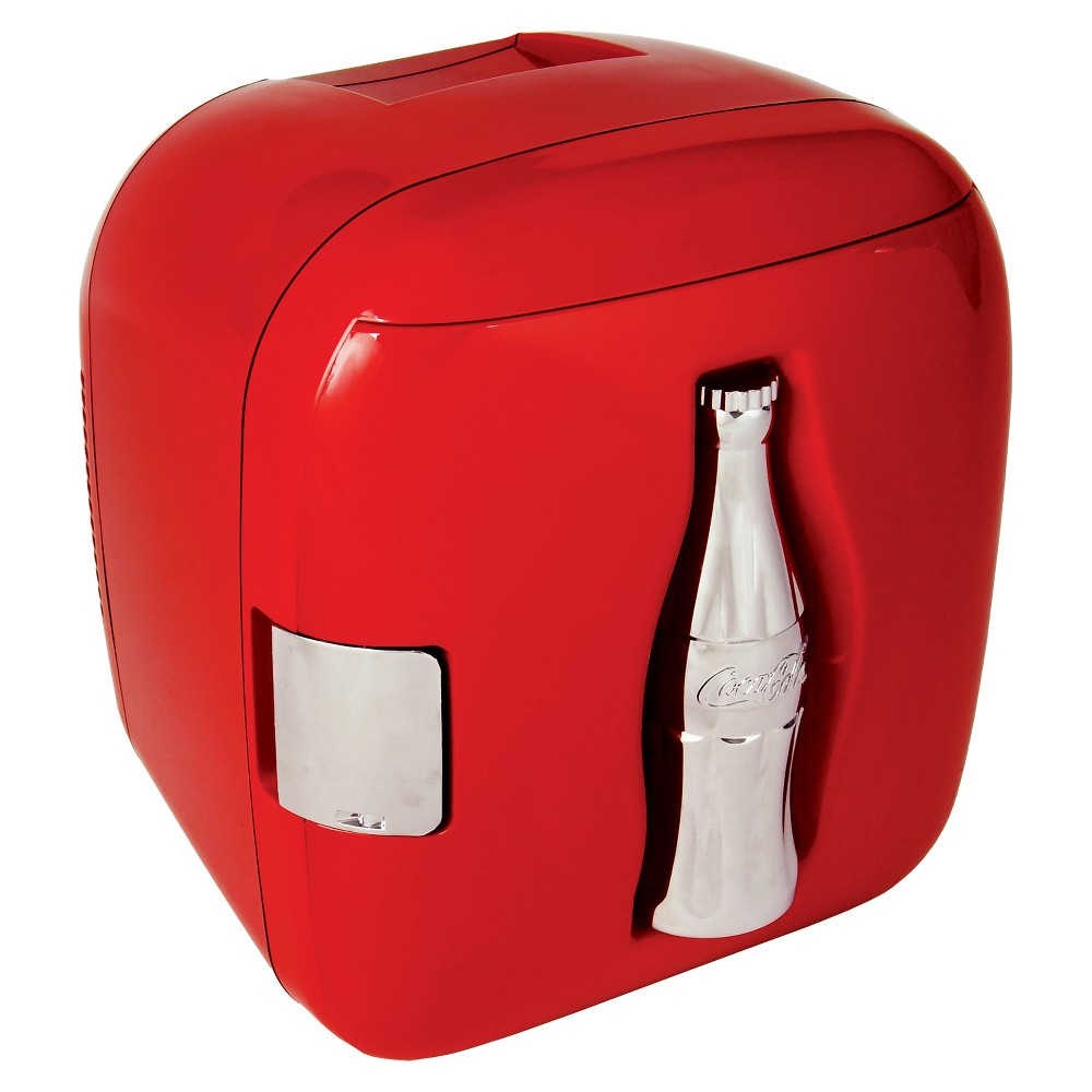 Image of Coca-Cola 11 Can Cube Refrigerator - Red