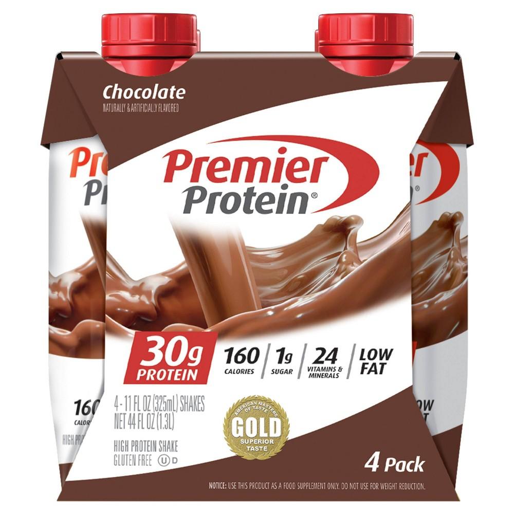 Premier Protein Shake Chocolate 11oz 4pk