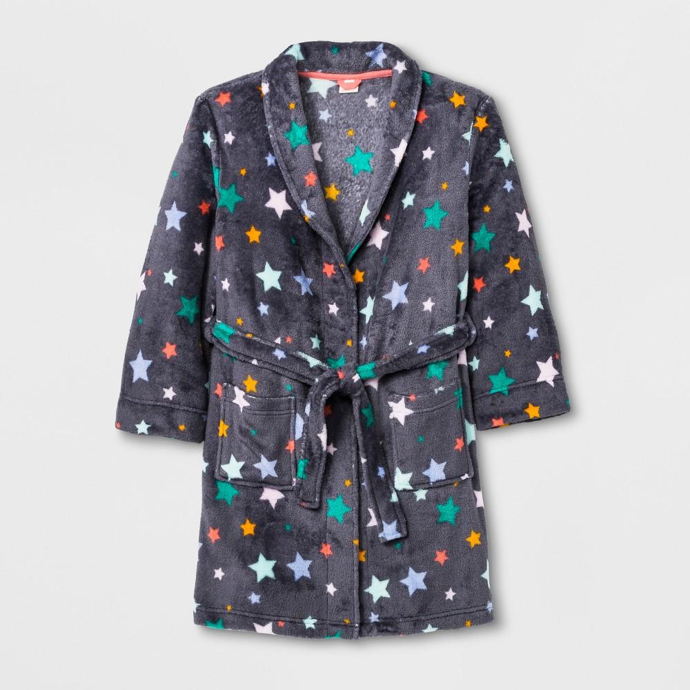Girls' Shawl Collar Robe - Cat & Jack Gray XL