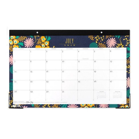 2020 Desk Calendar.2019 2020 Academic Desk Calendar Navy Flowers Snow Graham Chicago For Blue Sky