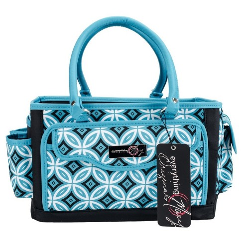 "Everything Mary Papercraft Organizer-Teal/Black 14""x9.75"" - image 1 of 2"
