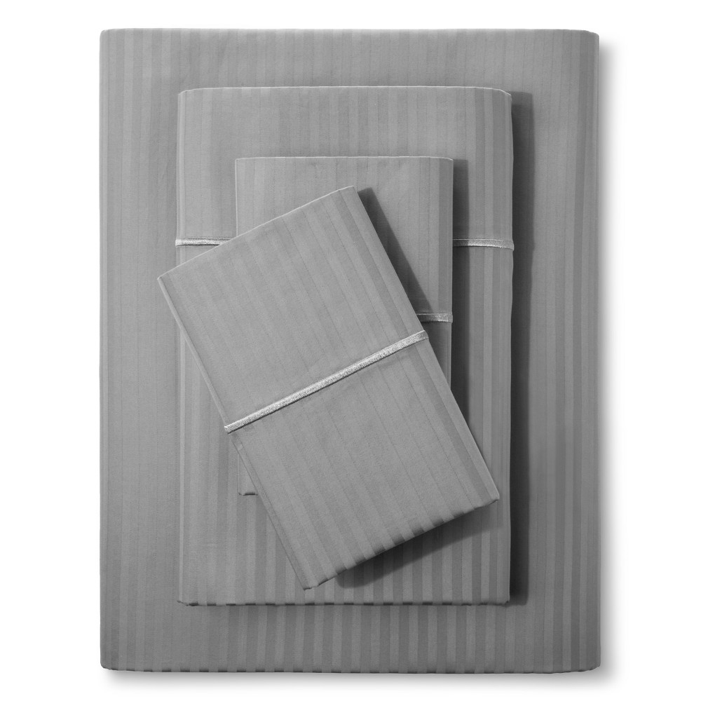 Damask Sheet Set (Full) Skyline Gray 500 Thread Count - Fieldcrest