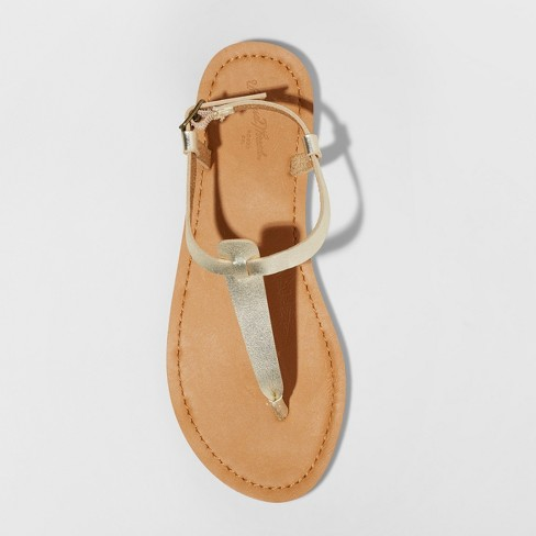 ca65a6433 Women s Hartley T Strap Thong Sandals - Universal Thread™ Gold 7   Target