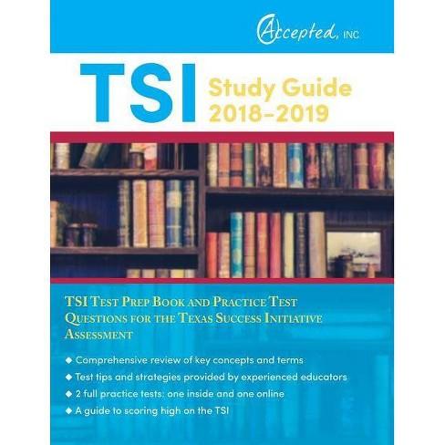 TSI Study Guide 2018-2019 - by  Tsi Test Prep Team (Paperback) - image 1 of 1