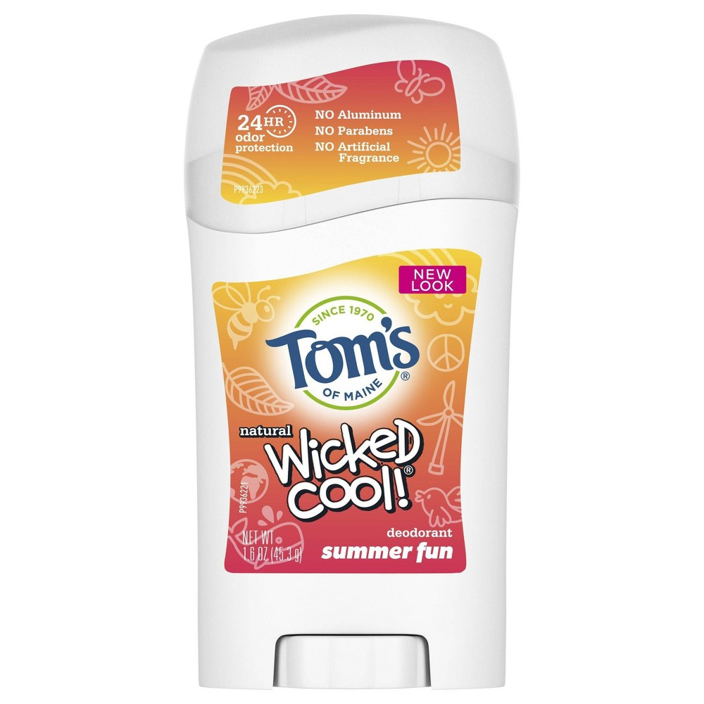 Image of Tom's of Maine Kids Wicked Cool Summer Fun Deodorant - 1.6oz