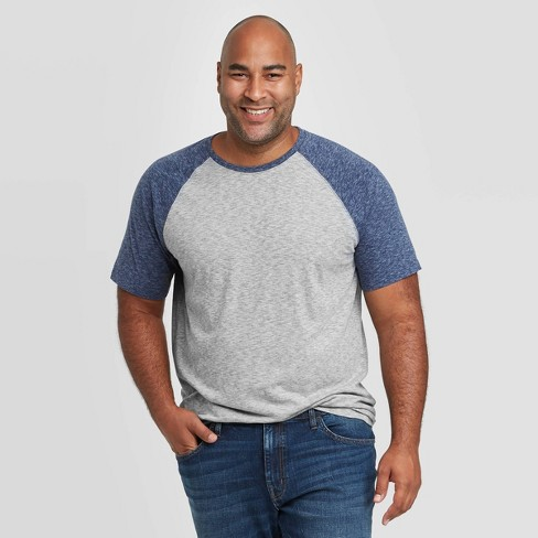 Men's Big & Tall Standard Fit Novelty Crew Neck T-Shirt - Goodfellow & Co™ Gray - image 1 of 3