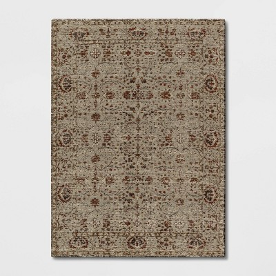 Jacquard Chenille Polyester Area Rug Red - Threshold™