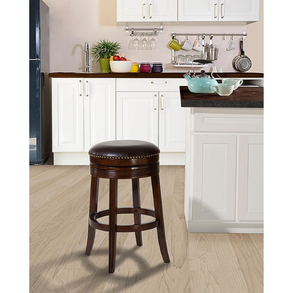 Tillman Swivel 30 Barstool Wood/Cherry - Hillsdale Furniture, Brown