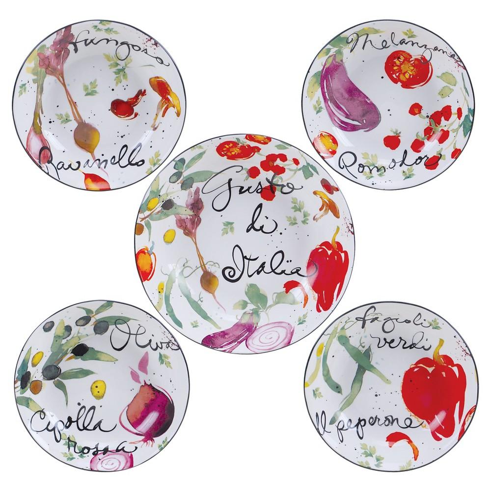 Certified International Melanzana 5pc Bowl Set, Multi-Colored