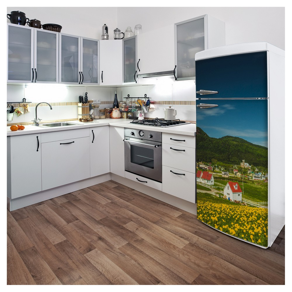 Bloomed Gaspé Fridge Wall Decal, Multi-Colored